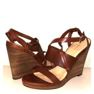 Cole Haan Nike Air Brown Wedge Sandals Size 10.5 B